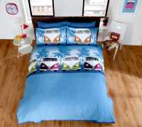 Camper Van Duvet Quilt Cover & Pillowcase Bed Set Bedding ...