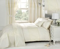 Cream Duvet Cover Bedding Bed Sets Or Curtains /Matching ...