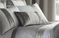 Silver Grey Luxury Duvet Cover Bedding Bed Set & OR ...