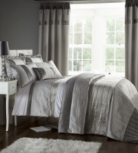 Silver Grey Luxury Duvet Quilt Cover Bedding Bed Set OR ...