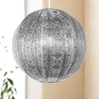 Silver or Bronze Coloured Light Shades Fittings Moroccan ...