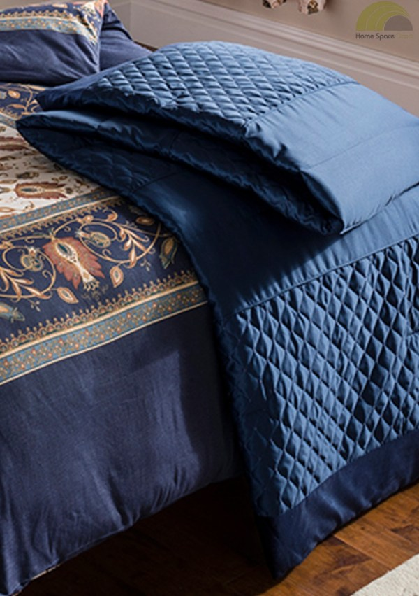 Navy Blue Duvet Cover Bedding Bed Set & OR Curtains OR Bedspread COTTON RICH   eBay