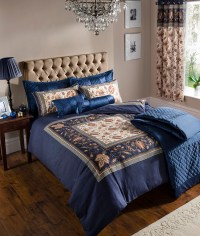 Navy Blue Duvet Cover Bedding Bed Set & OR Curtains OR ...