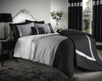 Black Grey Silver Duvet Covers Bedding Bed Set