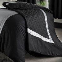 Black Grey Silver Duvet Covers Bedding Bed Set - Double ...