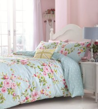 Floral Duvet Cover in Double & Kingsize - Flowery Bed ...