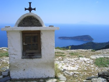 Top of Thassos island in Greece