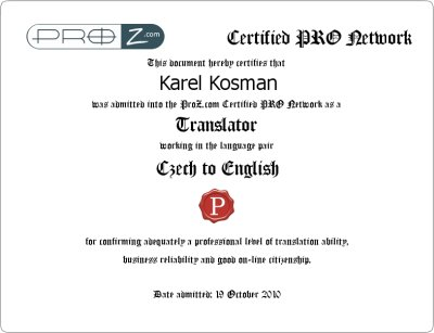ProZ Certification