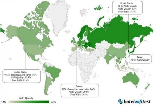 Clasamentul orașelor cu cel mai bun și mai prost WiFi în hoteluri.