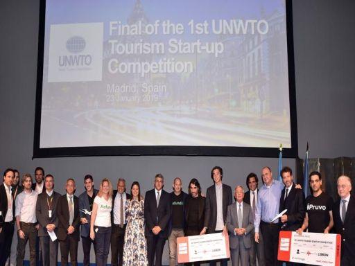 Ceremonia de acordare a premiilor în cadrul concursului de start-up-uri de turism, organizat de UNWTO și Globalia, a avut loc la Fitur.