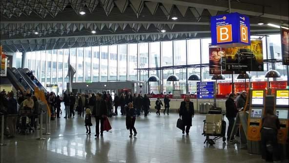 Terminalul 2 al Aeroportului din Frankfurt.