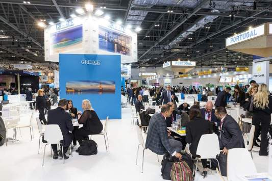Standul Greciei la World Travel Market din Londra.