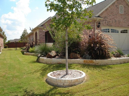 Stone tree surround