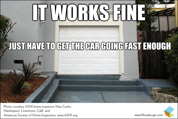 Funny Fail This Garage Driveway Works Just Fine