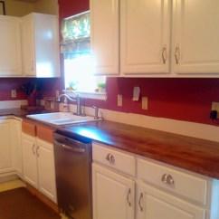 Wood Kitchen Counters Apron Sink Diy Countertops Countertop Options