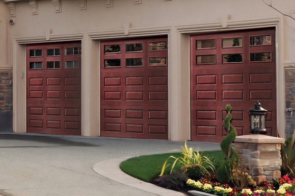 Faux Wood Garage Doors Look of Wood at a Budget Price