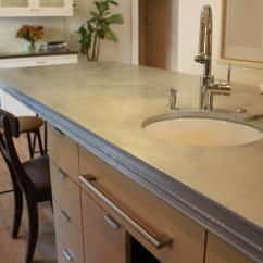 Kitchen Countertop Storage Open Island Zinc Countertops: Pros And Cons | Cost
