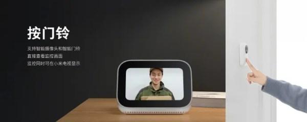 Xiaoai google Assistant écran tactile caméra sonette
