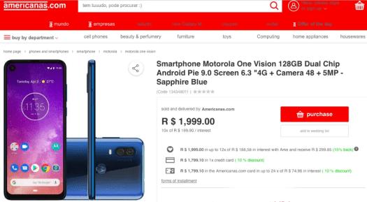 Motorola One Vision Price
