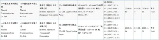 Redmi Note 8 alleged listing