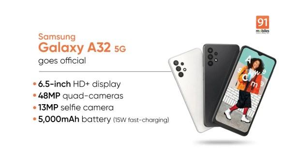 Samsung Galaxy A32 5G launched: price, specs   91mobiles.com