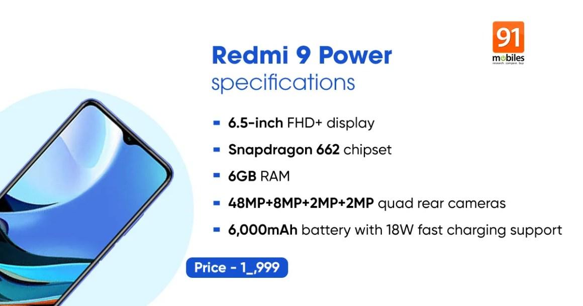 REdmi 9 Power 6GB RAM