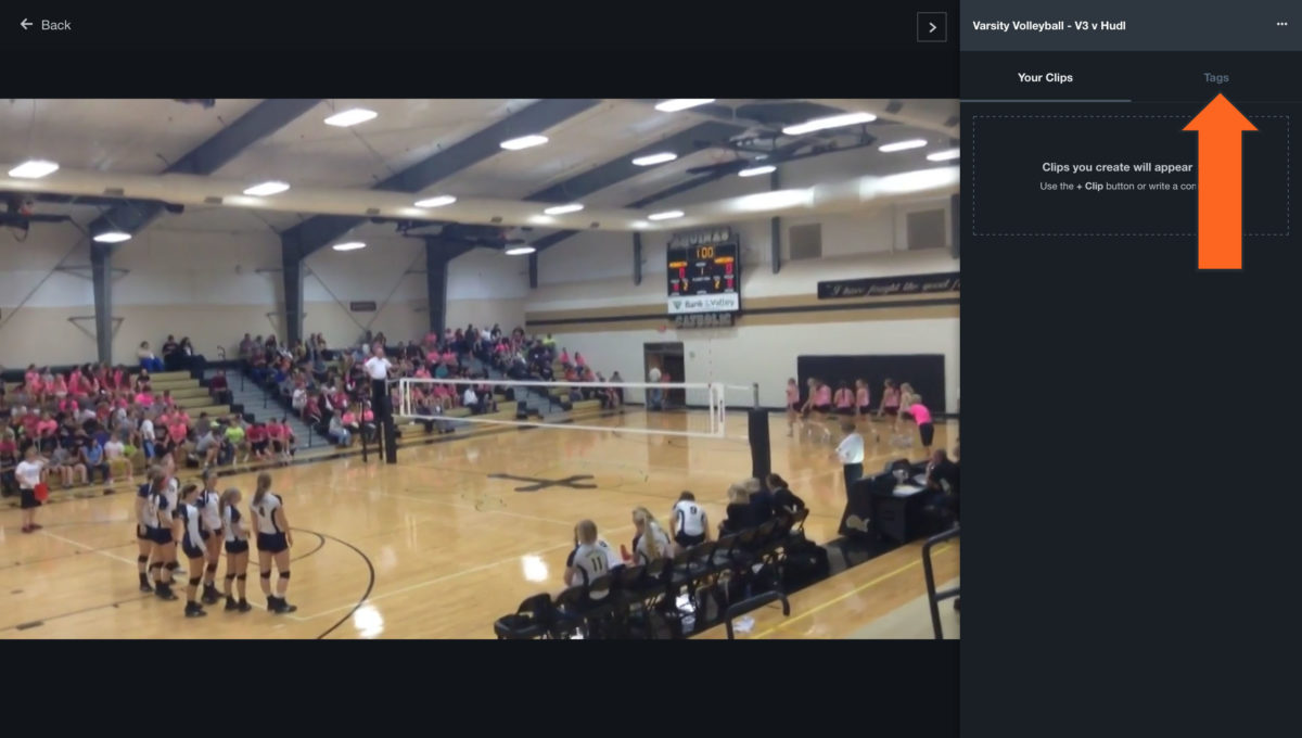Click tags also volleyball tag video after the match hudl support rh
