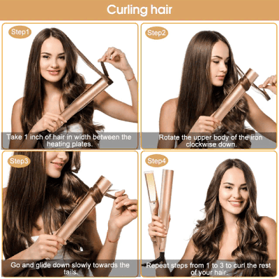 Magic Styling Hair Curling Straightening Iron