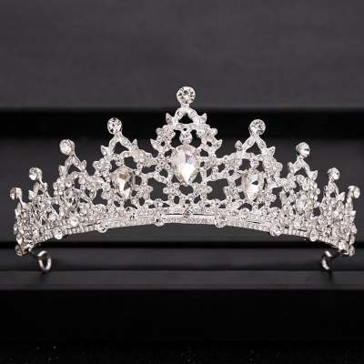 Bridal Gold Silver Baroque Crystal Tiaras Crowns