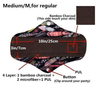 Overnight Reusable Sanitary Bamboo Pads