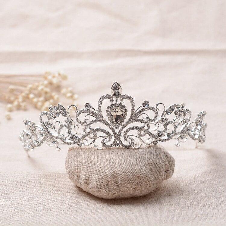 Clear Rhinestone Bridal Crystal Diadem