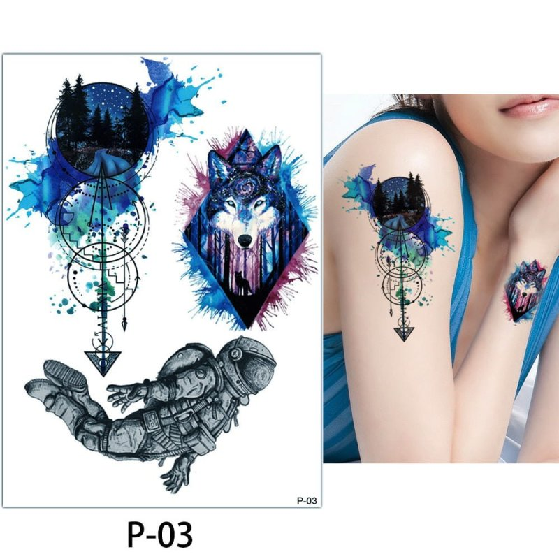 Colorful Temporary Body Art Tattoo