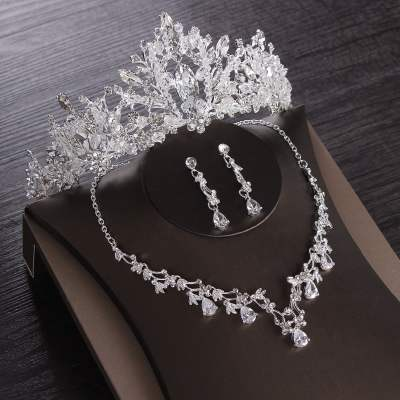 Luxury Wedding Cubic Zircon Bridal Jewelry Set