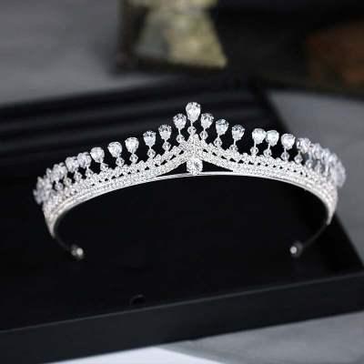 Rhinestone  Zircon Bridal Diadem