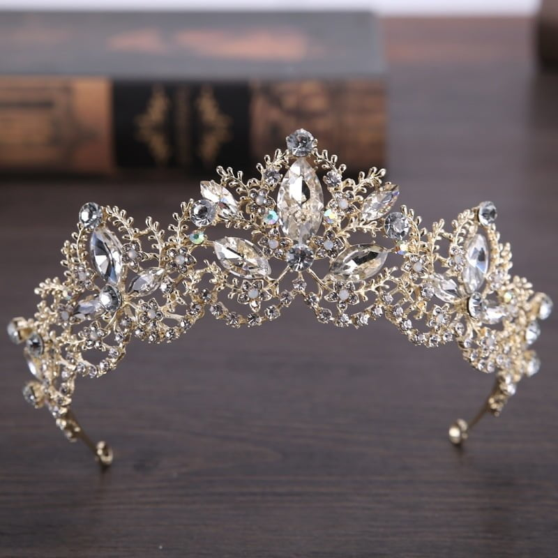 Light Gold Tiaras For Brides