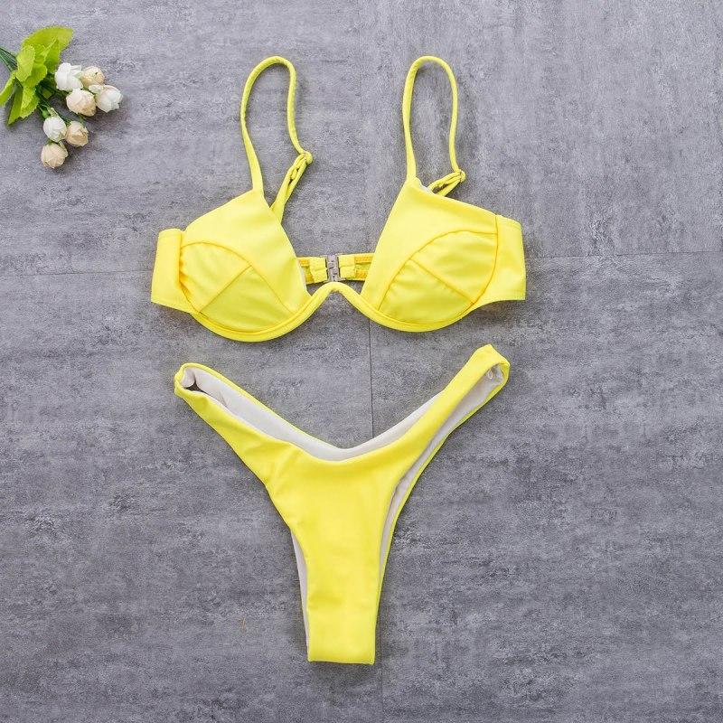 Unpadded Brazilian Bikini Set