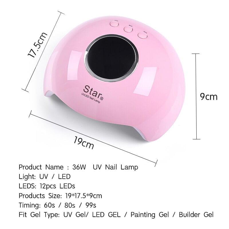 UV LED Lamp Nail Dryer  (White)