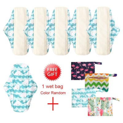 6pcs Waterproof Cloth Sanitary Pantie Liner