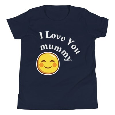 Youth Short Sleeve I Love You Mummy T-Shirt