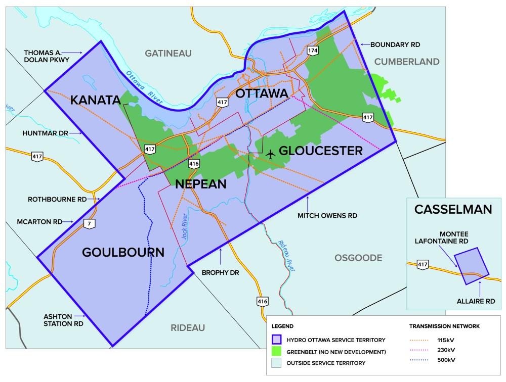 medium resolution of hydro ottawa coverage map