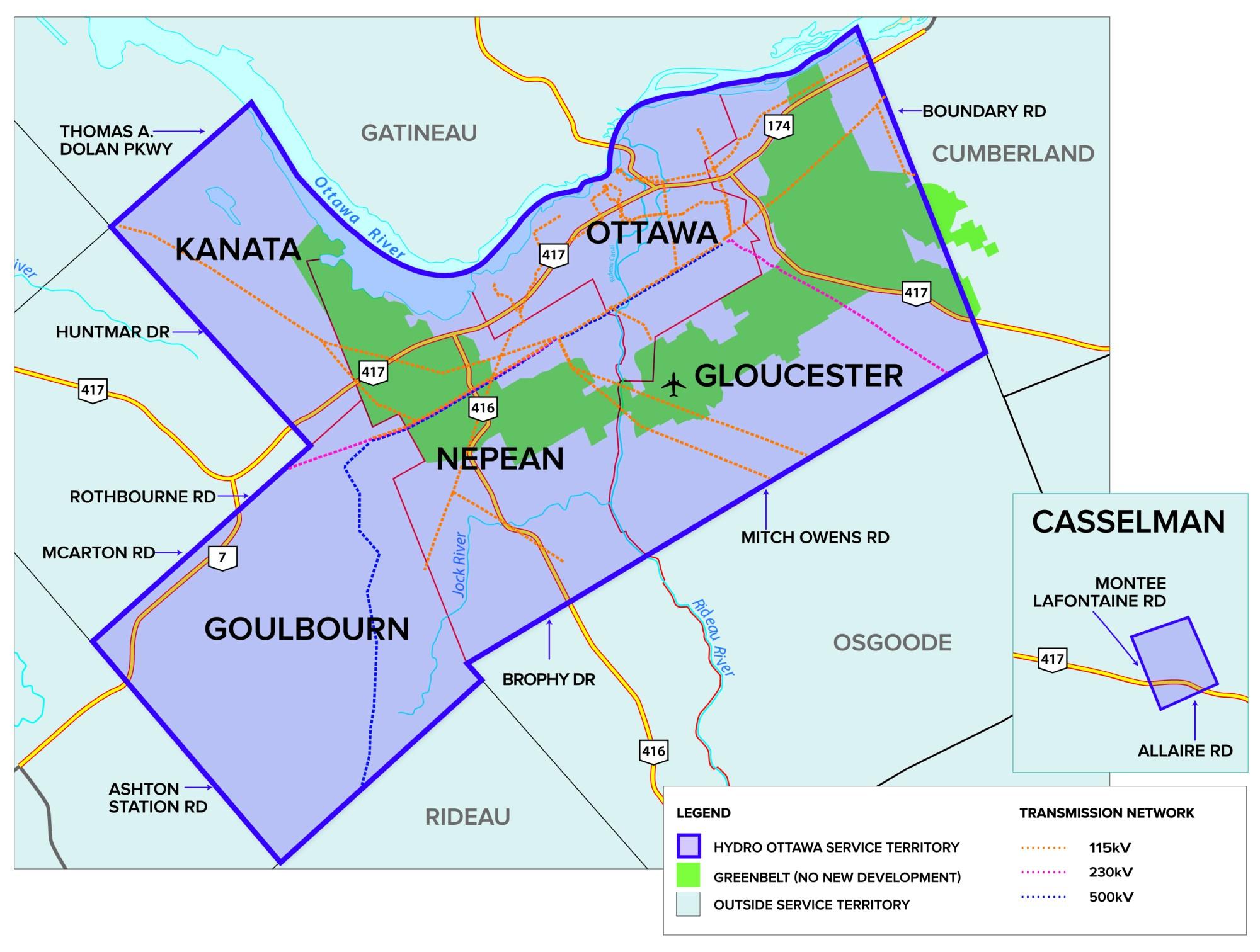 hight resolution of hydro ottawa coverage map