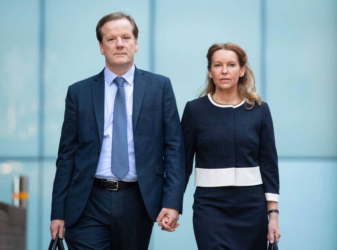 Charlie Elphicke, with MP for Dover Natalie Elphicke outside court in July, prior to guilty verdict