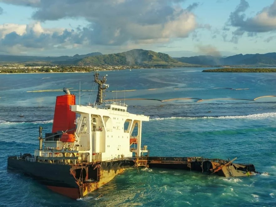 Wreck of the bulk carrier MV Wakashio