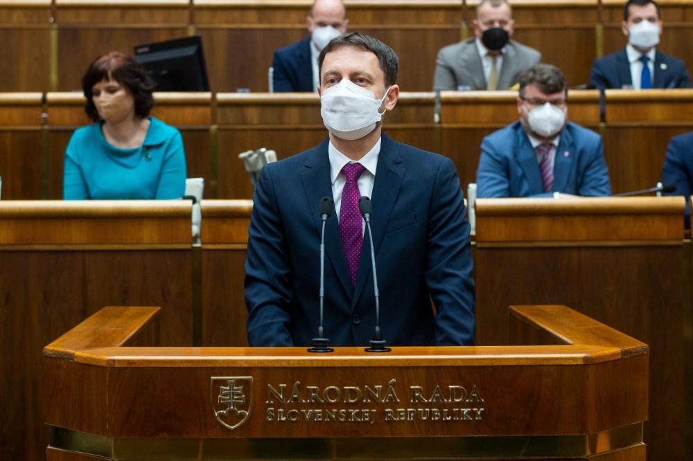 Slovakia's new government wins mandatory confidence vote Slovakia Cabinet Parliament France Zuzana Caputova