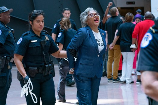 Congressional Black Caucus chair arrested during voting rights protest at Capitol 2