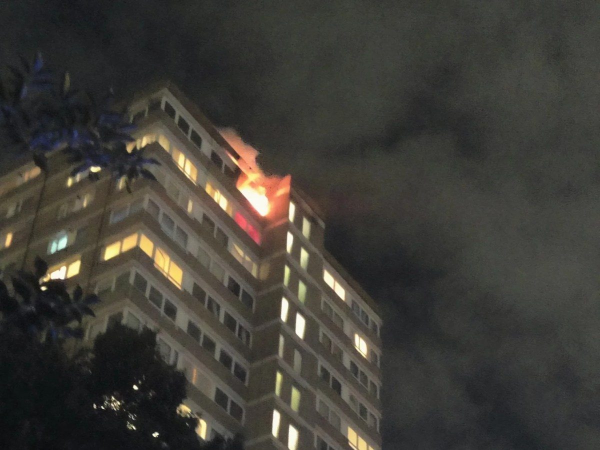 , Battersea fire: Woman and child taken to hospital after blaze breaks out at London tower block, The Evepost BBC News