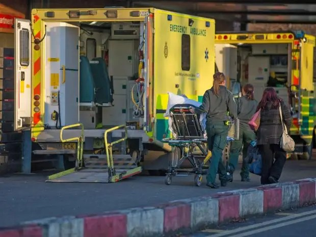 Figures suggest the NHS in England has missed an A&E waiting-time target with performance at a 10-year low Getty Images