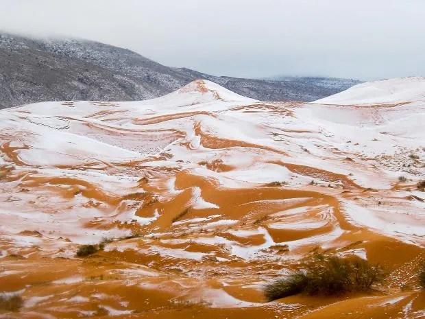 Snowfall in the Sahara Desert