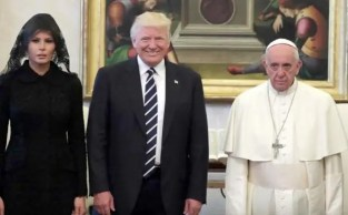 Image result for pope francis and donald trump
