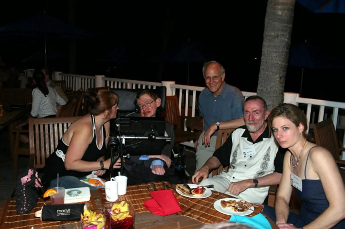 Renowned British theoretical physicist Stephen Hawking enjoys a barbecue on Jeffrey Epstein's Caribbean island Little St James while attending a conference on gravity organised for 21 of the world s top physicists by Epstein's foundation on neighbouring i
